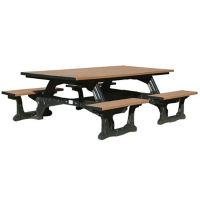 Commons Recycled Plastic Four Bench Picnic Table, F10203