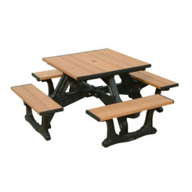 Town Square Four Bench Picnic Table, F10206