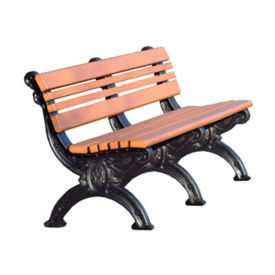 "Cambridge Recycled Plastic Bench with Back - 72""W, F10207"