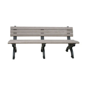 "Silhouette Recycled Plastic Bench - 72""W, F10209"