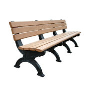 "Silhouette Recycled Plastic Bench - 96""W, F10210"