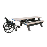 "Recycled Plastic Picnic Table with Handicap End - 96""W, F10215"