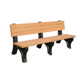 "Recycled Plastic Outdoor Bench - 72""W, F10217"