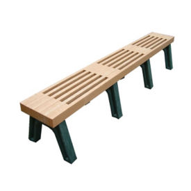 "Elite Recycled Plastic Backless Outdoor Bench - 96""W, F10231"