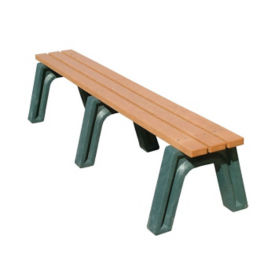 "Economy Recycled Plastic Backless Bench - 72""W, F10234"