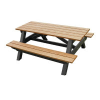 "Economy Recycled Plastic Picnic Table - 72""W, F10241"