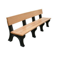 "Landmark Recycled Plastic Outdoor Bench - 96""W, F10249"