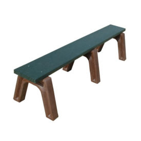 "Recycled Plastic Backless Outdoor Bench - 72""W, F10250"