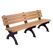 "Monarque Recycled Plastic Armless Outdoor Bench - 72""W, F10252"