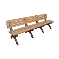"Monarque Recycled Plastic Outdoor Bench - 96""W, F10253"