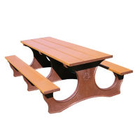 Easy Access Recycled Plastic Picnic Table 8', F10294