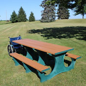 ADA Accessible Recycled Plastic Picnic Table, F10295