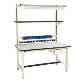 "ESD Laminate Heavy Duty Workbench 72""Wx30""D, T11594"