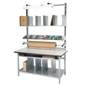 """ESD Laminate Packaging Workbench 60""""Wx30""""D, T11596"""