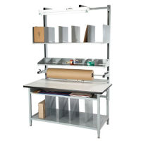"Solid Maple Packaging Workbench 60""Wx30""D, T11597"