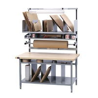 "Solid Maple Packaging Workbench 72""Wx30""D, T11600"