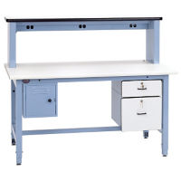 "ESD Laminate Technical Workbench 72""Wx30""D, T11604"