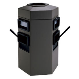 Dual Windshield Wash Station with 35 Gallon Trash Can, R20282