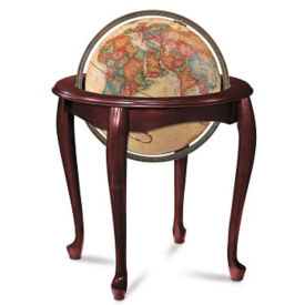 "Raised Relief Queen Anne Globe - 16"" Diameter, V21456"