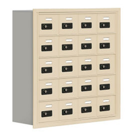 "20 Door Cell Phone Locker with Combination Lock - 31""H x 30.5""W, B30029"