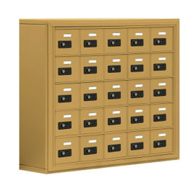 "25 Door Cell Phone Locker with Combination Lock - 31""H x 37""W, B30030"
