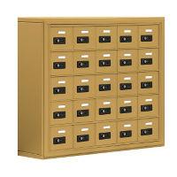 "25 Door Cell Phone Locker with Combination Lock - 31""H x 37""W, B30030"
