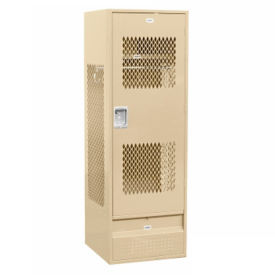 "Assembled Ventilated Door Team Locker 24""W x 24""D x 72""H, B30085"