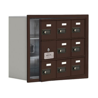 "8 Door Cell Phone Locker with Combo Lock and Access Panel - 24""W x 20""H, B34609"