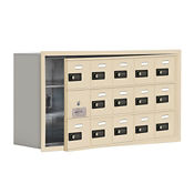 "14 Door Cell Phone Locker with Combo Lock and Access Panel - 37""W x 20""H, B34611"