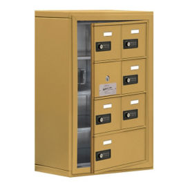 "6 Door Cell Phone Locker with Combo Lock and Access Panel - 17.5""W x 25.5""H, B34612"