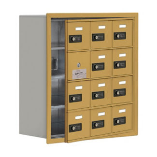 "11 Door Cell Phone Locker with Combo Lock and Access Panel - 24""W x 25.5""H, B34613"