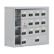 """13 Door Cell Phone Locker with Combo Lock and Access Panel - 30.5""""Wx25.5""""H, B34614"""