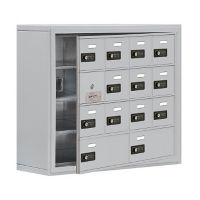 "13 Door Cell Phone Locker with Combo Lock and Access Panel - 30.5""Wx25.5""H, B34614"