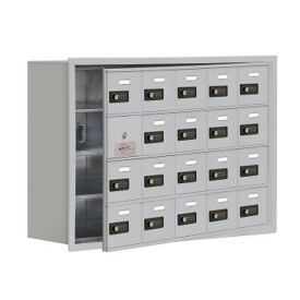"19 Door Cell Phone Locker with Combo Lock and Access Panel - 37""W x 25.5""H, B34615"