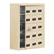 "14 Door Cell Phone Locker with Combo Lock and Access Panel - 24""W x 31""H, B34618"