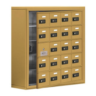 "19 Door Cell Phone Locker with Combo Lock and Access Panel - 30.5""W x 31""H, B34620"
