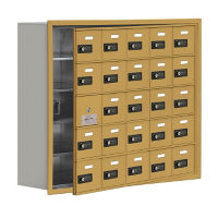 "24 Door Cell Phone Locker with Combo Lock and Access Panel - 37""W x 31""H, B34621"