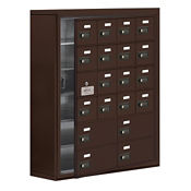 """19 Door Cell Phone Locker with Combo Lock and Access Panel - 30.5""""Wx36.5""""H, B34624"""