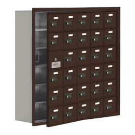 "29 Door Cell Phone Locker with Combo Lock and Access Panel - 37""W x 36.5""H, B34625"