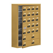 "23 Door Cell Phone Locker with Combo Lock and Access Panel - 30.5""W x 42""H, B34628"
