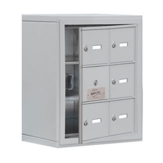 "5 Door Cell Phone Locker with Key Lock and Access Panel - 17.5""W x 20""H, B34630"