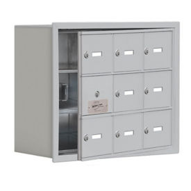 "8 Door Cell Phone Locker with Key Lock and Access Panel - 24""W x 20""H, B34631"