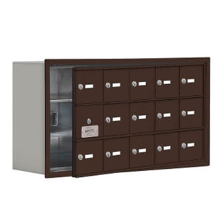 "14 Door Cell Phone Locker with Key Lock and Access Panel - 37""W x 20""H, B34633"