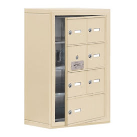 """6 Door Cell Phone Locker with Key Lock and Access Panel - 17.5""""W x 25.5""""H, B34634"""