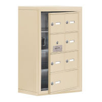 "6 Door Cell Phone Locker with Key Lock and Access Panel - 17.5""W x 25.5""H, B34634"
