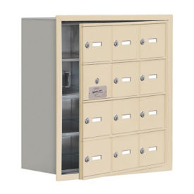 "11 Door Cell Phone Locker with Key Lock and Access Panel - 24""W x 25.5""H, B34635"