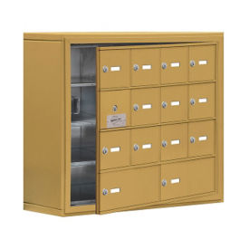 "13 Door Cell Phone Locker with Key Lock and Access Panel - 30.5""W x 25.5""H, B34636"