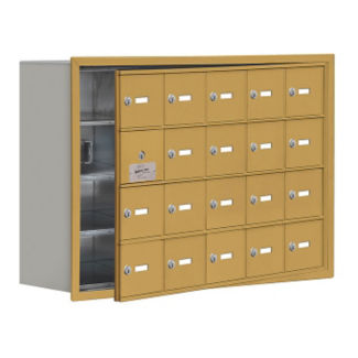 "19 Door Cell Phone Locker with Key Lock and Access Panel - 37""W x 25.5""H, B34637"