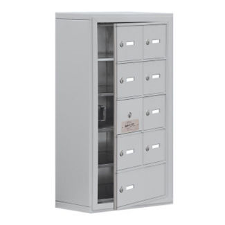 "8 Door Cell Phone Locker with Key Lock and Access Panel - 17.5""W x 31""H, B34638"