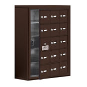 """14 Door Cell Phone Locker with Key Lock and Access Panel - 24""""W x 31""""H, B34640"""